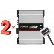2x Taramps HD 3000 1 Ohm Amplifier HD3000 3K Watts Taramp's Amp - 3 Day Delivery