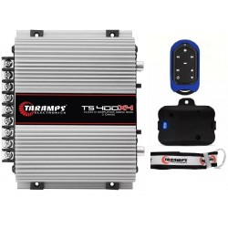 Taramps TS 400x4 + TLC 3000 Blue car audio amplifier 400 watts Remote Control