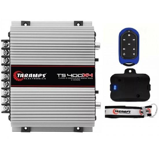 Taramps TS 400x4 + TLC 3000 Blue car audio amplifier 400 watts Remote Control