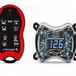 Stetsom VT 3 Voltmeter Digital + Stetsom SX2 Red Control Remote Car Audio
