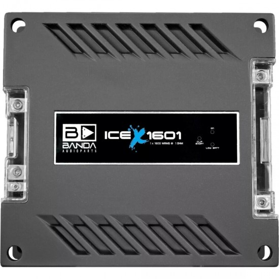 BANDA AUDIOPARTS ICE X 1601 1 Channel 1600w Digital Amplifier 1 Ohms Car Audio